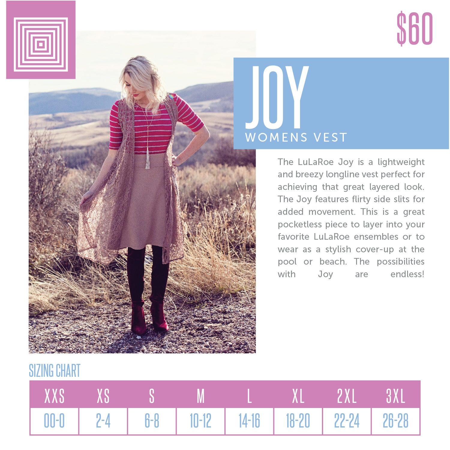 Joy Sizing Chart 2-18-2018